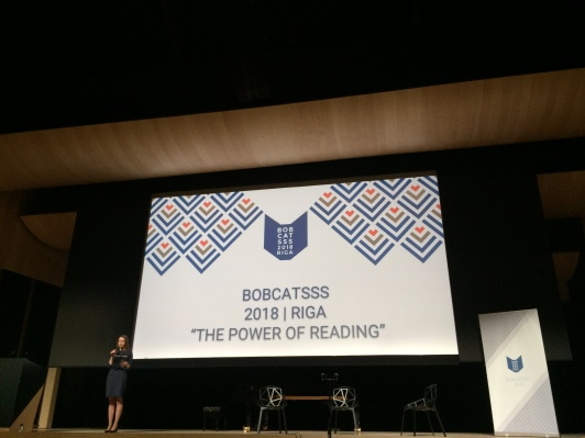 Lelde Petrovska atklāj BOBCATSSS 2018. Foto: E.Sniedze